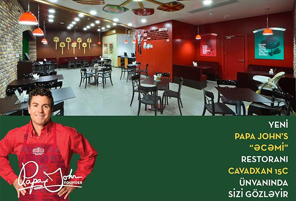 Oxu Az Papa John S Pizza Səbəkəsi Yeni əcəmi Restoraninin Acilisini Elan Edir Foto