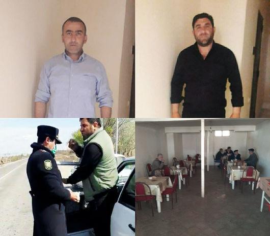 Ağdaşda karantin rejimini pozanlar həbs edildi - FOTO