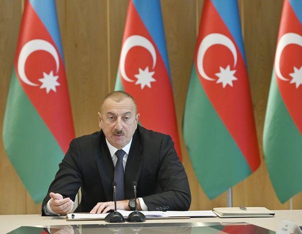 """Prezident İlham Əliyev: """"Türkdilli ölkələrdən 180 min tondan artıq yük Azər ..."""