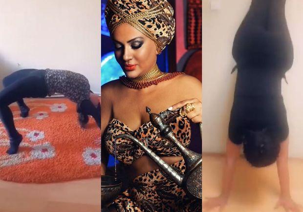 Azərbaycanlı aktrisanın karantindəki seksual idman məşqi - VİDEO