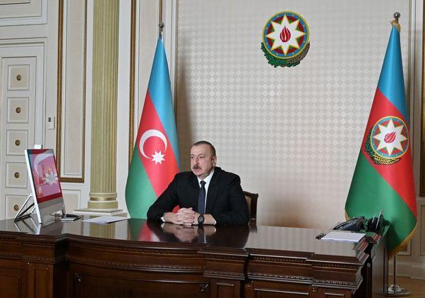 İlham Əliyev videobağlantı formatında görüş keçirdi - FOTO