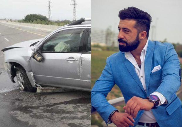 Dünya çempionumuz avtomobil qəzasına düşdü - VİDEO