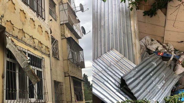 Güclü külək evlərə və köşklərə ciddi zərər vurub - VİDEO