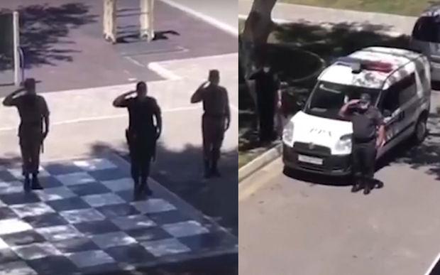 Azərbaycan polisindən qürurverici davranış - VİDEO