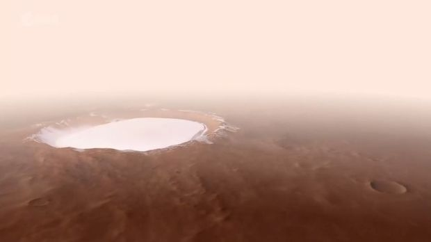 Marsın ən böyük kraterinin görüntüləri heyran etdi - VİDEO