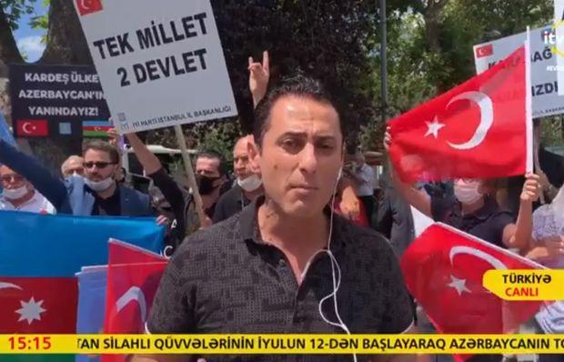 Türkiyədə Azərbaycan - Ermənistan sərhədində baş verən döyüşlərə dəstək aks ...