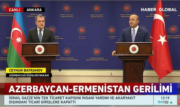 Ceyhun Bayramov Mövlud Çavuşoğlu ilə danışıqlarda - CANLI YAYIM