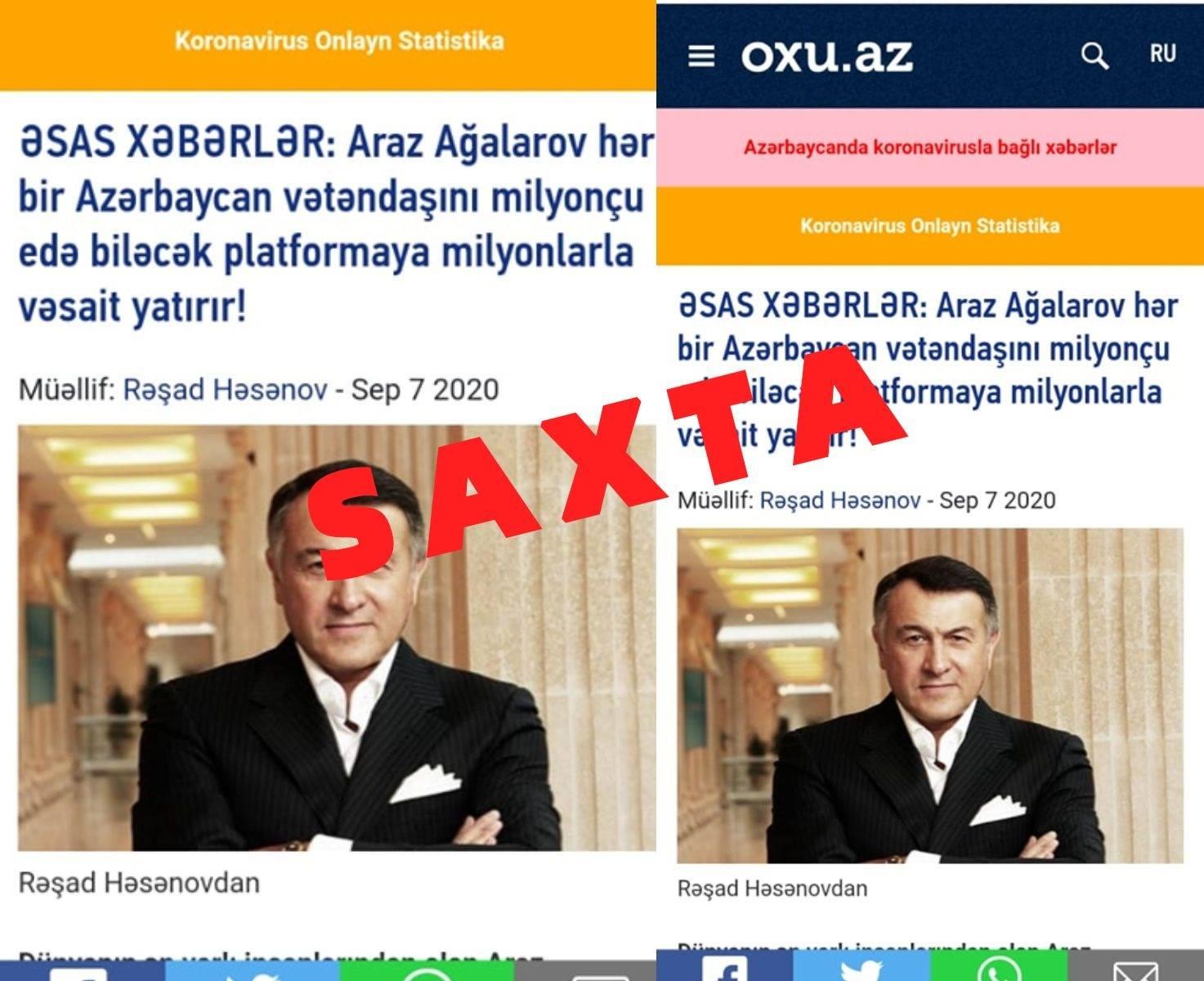 Oxu Az Oxu Az Adindan Yenə Də Saxta Məlumatlar Yayimlanir