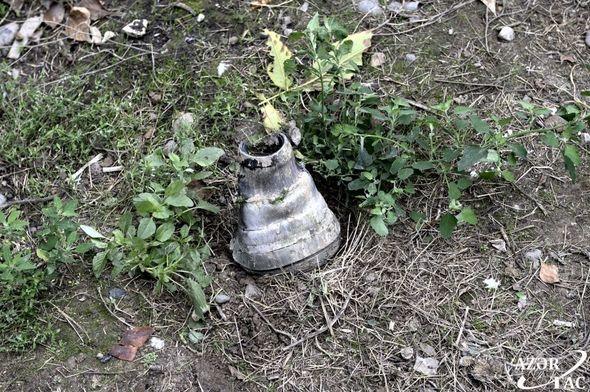 Бейлаган после армянского артобстрела - следы армянского фашизма. ФОТО