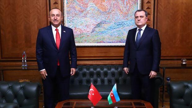 Ceyhun Bayramov Mevlüt Çavuşoğlu ilə Ermənistanın dinc sakinləri hədəfə alm ...