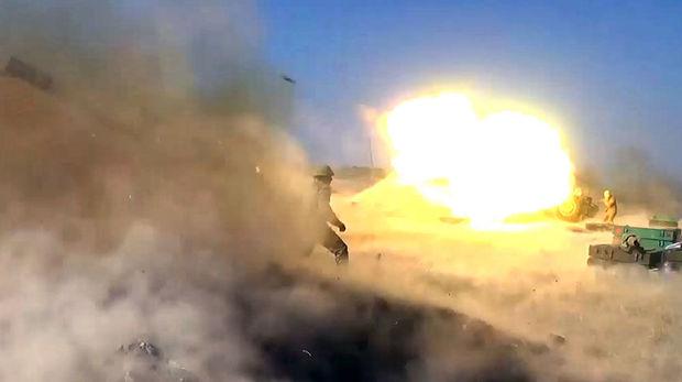 Gəncə qurbanlarının qanı yerdə qalmadı: Düşmən mövqelərinə raket-artilleriya zərbələri endirilib - VİDEO