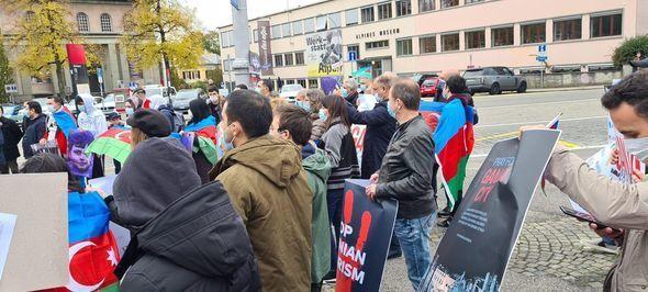 В Швейцарии проведена акция в поддержку Азербайджана - ФОТО/ВИДЕО