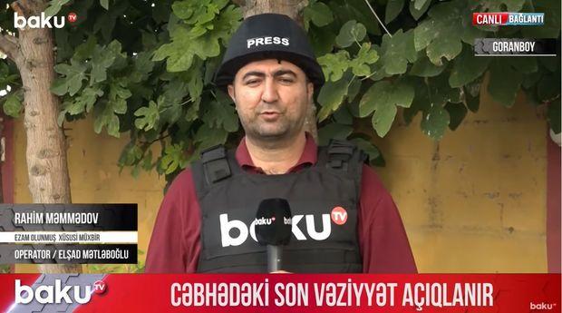 Düşmənin təxribatına məruz qalan Goranboyda son vəziyyət - VİDEO