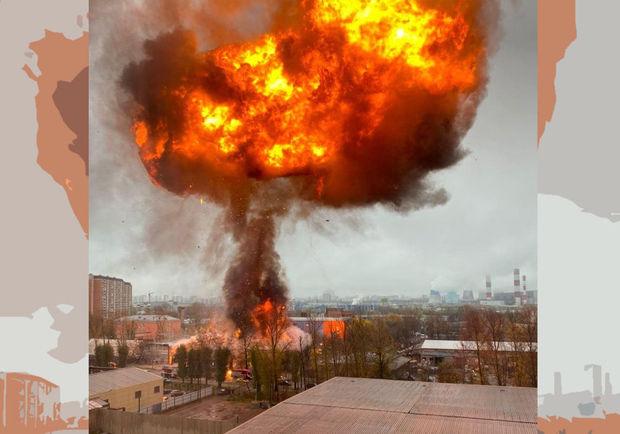 Moskvada qaz balonları anbarında partlayış olub: Yanğın davam edir – VİDEO
