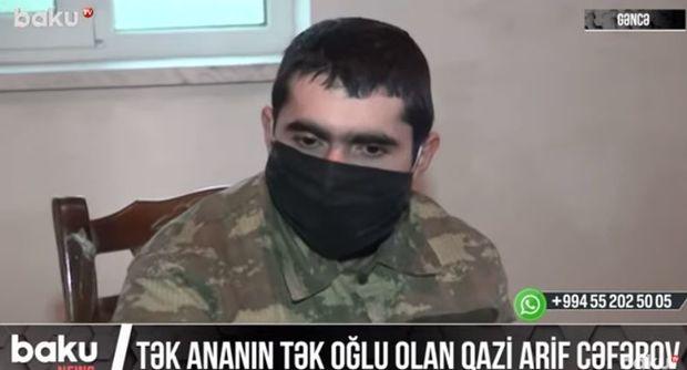 Tək ananın tək oğlu olan qazi Arif Cəfərov - VİDEO