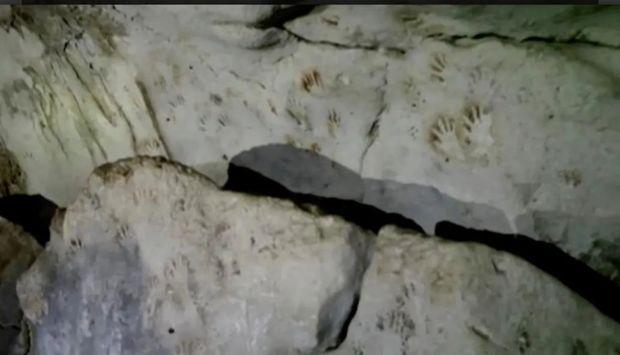 Mağaradan Mayya sivilizasiyasına aid edilən əl izləri aşkar edilib