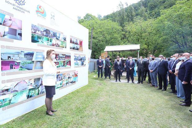 İsmayıllı rayonunda dövlət dəstəyi ilə 15 kənd qonaq evi yaradıldı – FOTO