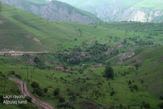 Laçının Ağbulaq kəndinin görüntüləri - VİDEO