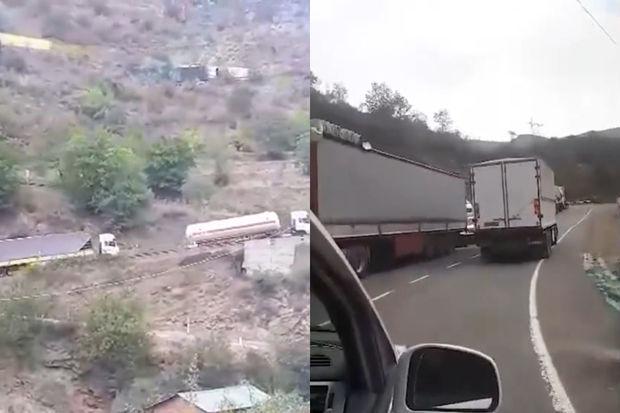 Tehranın Ermənistandakı qaranlıq planı: İranlı sürücülər ermənilərə görə canlarını təhlükəyə atır - VİDEO